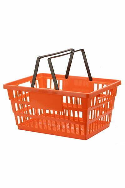 DK-607 Orangte - Panier à main épicerie - Panier de magasinage - Chariot Shopping