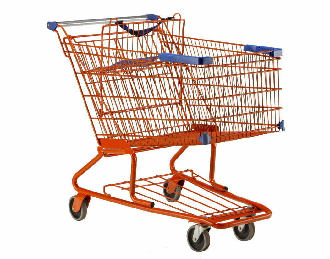 DK18 Orange | Chariot de magasinage | Chariot Shopping